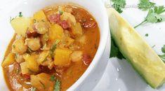 Sopa de garbanzos, chorizo y salchichón  Por Chef Edgardo Noel    Garbanzo Bean Soup *Marta's Note: Have done this recipe using white Navy Beans or White Kidney Beans instead... Yum!!