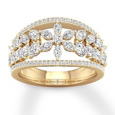 This nature inspired moissanite engagement ring is crafted in solid rose gold with a 2 ct round shaped forever brilliant moissanite, beautiful shiny stone, full of luster and brilliance. Cute Engagement Rings, Floral Engagement Ring, Yellow Diamond Rings, Emerald Diamond, Marquise Diamond, Ring Designs, Jewellery Designs, Diamond Jewelry, Gold Jewellery