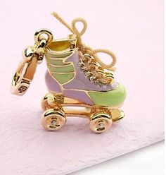 DIY your photo charms, 100% compatible with Pandora bracelets. Make your gifts special. Make your life special! juicy couture jewelry | Juicy Couture Jewelry Roller Skate Charm| YoYosilver.com