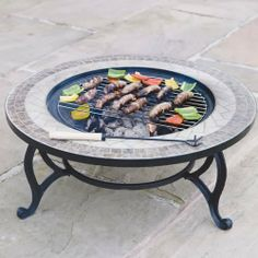 Trueshopping 'Beacon Star' Round Outdoor Garden Mosaic Coffee Table & Fire Pit – Integral Charcoal Burner / Patio Firepit / BBQ Grid / Spark Guard / Weather Cover – Diameter – Pull Out Centre – Large Fire Bowl & Tiled Tabletop Iron Fire Pit, Fire Pit Bbq, Fire Pit Party, Fire Pit Wall, Garden Fire Pit, Steel Fire Pit, Fire Pit Pergola, Gazebo With Fire Pit, Fire Pit Seating