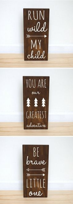 Be brave little one, run wild my child, you are my greatest adventure, nursery decor, kids bedroom decor, woodland nursery, baby shower gift by Handy Gerl #affiliatelink