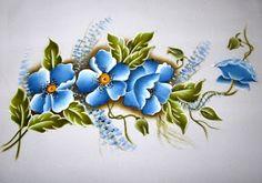Reully Art´s - Pintura em tecido e em MDF: Pintura em tecido (flores)