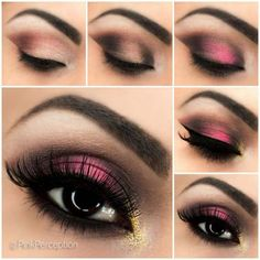 Es gibt auch tragbare minimalistische Smokey-Eye-Make-up-Optione. There are also portable minimalistic smokey eye make Pink Smoky Eye, Smoky Eyes, Black Smokey Eye, Dark Smokey Eye Makeup, Black Eye Makeup, Smoky Eye Makeup Tutorial, Eye Makeup Tips, Eye Tutorial, Prom Makeup Tutorial