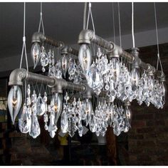 Industrial lighting. What?! It's like a industrial princess chandelier! @Sean Munjal