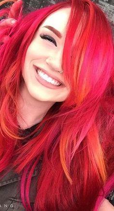 Red, Pink & Orange