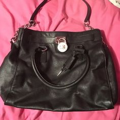 Michael Kors black soft leather hamilton worn a handful of times. excellent contidion :) no marks tears or stains!*** no longer sell the soft leather in stores. comes with dustbagno trades Michael Kors Bags Totes