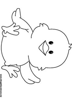 chick coloring page - coloring page for kids - window color - chick coloring page – coloring page for kids – window color - Farm Animal Coloring Pages, Colouring Pages, Free Coloring, Coloring Pages For Kids, Coloring Books, Rock Crafts, Diy And Crafts, Diy For Kids, Crafts For Kids