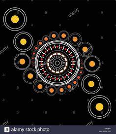 Illustration based on aboriginal style of dot painting Stock Vector Art & Illustration, Vector Image: 126644071 - Alamy Aboriginal Art Symbols, Aboriginal Dot Painting, Dot Art Painting, Mandala Painting, Fabric Painting, Indigenous Australian Art, Mandala Dots, Mosaic Designs, Tribal Art