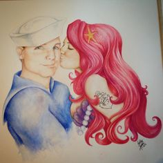Finished!! A painting for @samanthaaaa_d #thelittlemermaid #ariel #art #artwork #artistsmuseum #art_4_shoutout #art_spotlight #instaart #artistic #dailyarts #dailywatercolor #dailydrawoff #willdraw #threadless #tattoo #watercolor #painting #vintage #beautiful #beauty #couple #mermaid #sailor #siren #talentedpeopleinc #redhed #hair #drawing #blvart #blueeyes by indecorousart