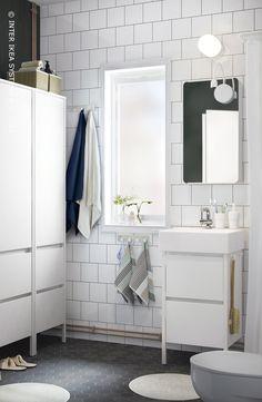 Stem de stijl van je badkamermeubels op elkaar af! Opbergkast YDDINGEN #IKEABE  Stylish bathroom furniture. Storage cabinet YDDINGEN #IKEABE