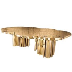 FORTUNA gold dining table large size table for 8 limited edition boca do lobo