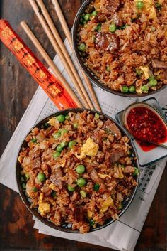Beef Fried Rice | The Woks of Life Beef Fried Rice, Fried Rice Recipes, Fried Rice Recipe Chinese, Easy Fried Rice, Diced Beef Recipes, Best Fried Rice Recipe, Healthy Fried Rice, Fried Steak, Chicken Recipes