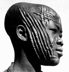 Facial scarification, West Africa