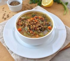 Vegetarian Lentil Soup. So good that even my meat-eater husband loves it!