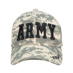 Army Digital Camo Cap  This deluxe Army camo cap features comfortable 100%  brushed cotton 6a478367b9ed