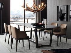 CONCORDE テーブル by Poliform デザイン: Emmanuel Gallina