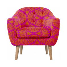 Amour Bohème rose Orange chaise Sassy par Rubyed sur Etsy, $1299.00