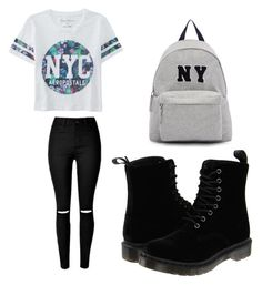 """New York city"" by aliyahlarose on Polyvore featuring Aéropostale, Dr. Martens, Joshua's, women's clothing, women, female, woman, misses and juniors"
