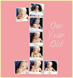 Addie's one year old photo collage
