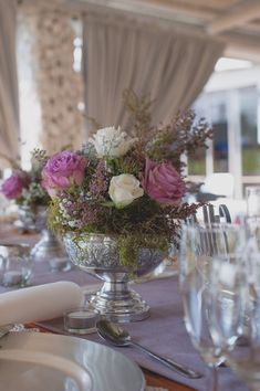 A French Inspired South Africa Wedding great way to cut back on flowers - add greenery! Parisian Baby Showers, Wedding Table Centres, Protea Flower, Wedding Decorations, Table Decorations, Centre Pieces, Table Centerpieces, Floral Arrangements, South Africa