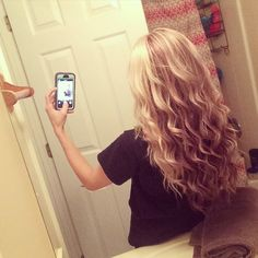Beach waves with curling wand.
