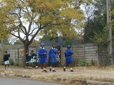 School students in school uniforms. School Uniforms, Zimbabwe, Where The Heart Is, South Africa, To Go, Students, Children, Places, Lugares