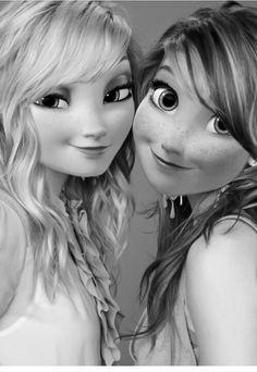 Elsa and Anna de véritables sœurs