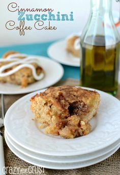 Cinnamon Zucchini Coffee Cake by crazyforcrust.com | This tastes just like a cinnamon apple cake!
