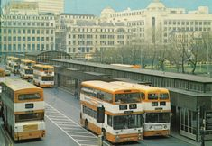 Old Manchester Transport Pictures - Page 4 - SkyscraperCity Manchester Buses, Transport Pictures, Double Decker Bus, Bus Coach, Salford, Bus Station, Busses, Commercial Vehicle, Family History