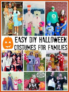 Check out some of the best Halloween costumes for a family! Easy DIY & great ideas for groups too.