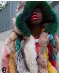 """""""If the world is cold, make it your business to build fires. Dolly Fashion, Fashion Dolls, Fur Decor, Aw 2018, Wilhelmina Models, Street Style Edgy, Cool Jackets, Teen Vogue, Opening Ceremony"""