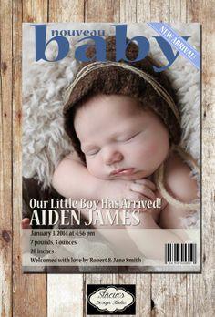 Customized Digital New Baby Birth by StaciasDesignStudio on Etsy, $6.00