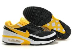 uk availability fa0b5 68df5 Men Nike Air Max Bw Running Black Yellow White Factory Outlet MU-74 New Nike