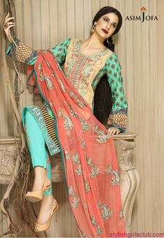 Asim Jofa Embroidered Winter Dresses 2016-17