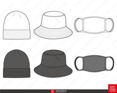 AI vector file compatible with Adobe Illustrator - PNG High Resolution For personal use and small commercial use For extended lisence please send a message Fashion Design Template, Fashion Templates, Bullet Journal Cleaning, Small Beanie, Fashion Vector, Flat Sketches, Tech Pack, Diy Canvas Art, Fashion Flats