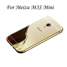 HC01 Gold Plating Case For Meizu M3S Mini Aluminum Metal Bumper Frame With Mirror Acrylic Back Cover For M3SMini #>=#>=#>=#>=#> Click on the pin to check out discount price, color, size, shipping, etc. Save and like it!