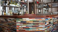 Bar made out of books