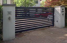 contemporary Aluminium electric driveway gates