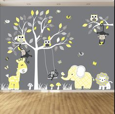 Hey, I found this really awesome Etsy listing at https://www.etsy.com/listing/183500243/jungle-wall-decal-tree