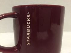 Starbucks 2013 Mug 14 Ounces Large Coffee Tea Cup Stacking Red Mulberry #StarbucksCoffeeCompany