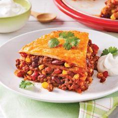 Lasagne mexicaine végétarienne - Recettes - Cuisine et nutrition - Pratico Pratique