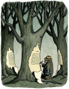 Writing on the raw material / Escribiendo sobre la materia prima (ilustración de Franco Matticchio)