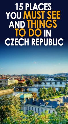 15 places you must see and things to do in Czechia If you are an expat in the Czech Republic looking for fun things to do and… Places To Travel, Places To See, Prague Travel, Reisen In Europa, Prague Czech Republic, Travel Information, Adventure Is Out There, European Travel, Where To Go