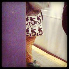 Bag in the subway November 2012 http://www.patternhuntress.com/