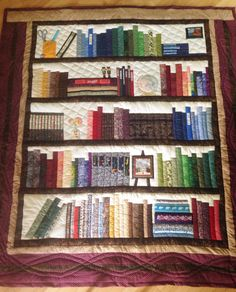 And.....it's done! My bookshelf quilt.