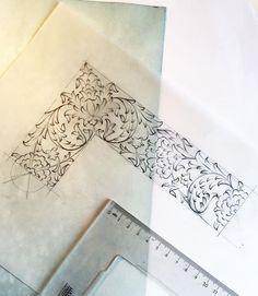 Tezhip Islamic Motifs, Persian Motifs, Pattern Drawing, Pattern Art, Arabesque, Stencil, Illumination Art, Islamic Paintings, Arabic Pattern