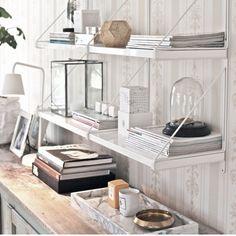 gällö ikea - langar í Apartment Interior Design, Interior Design Living Room, Interior Styling, Interior Decorating, Home Office Space, Home Office Decor, Ikea Ekby, Shelving Design, Ikea Home