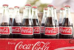 Coca Cola in the tall bottles & old crates. Southern tradition