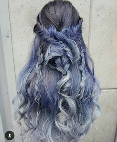 140 iridescent holographic hair coloring ideas to make your hair resemble Pastel Hair, Ombre Hair, Hair Dye, Periwinkle Hair, Coloured Hair, Pinterest Hair, Mermaid Hair, Mermaid Makeup, Cool Hair Color