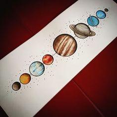 the solar system tattoo - Google'da Ara